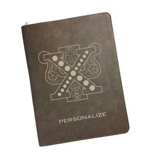 Chi Psi Zipper Leatherette Portfolio with Notepad
