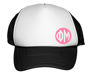 Circle Greek Trucker Hat