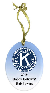Circle K Holiday Color Glass Ornament