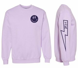 Comfort Colors Sorority Lightning Crew Sweatshirt