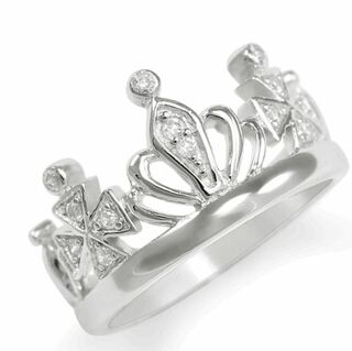 Crown Ring with CZ diamonds