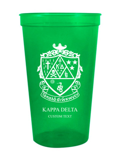 Custom Greek Crest Est Stadium Cup