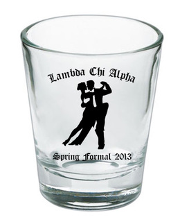 Custom Printed Short Glass Design #1