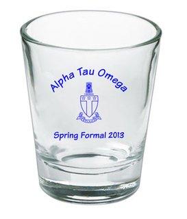 Custom Printed Short Glass Design #13