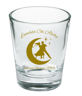 Custom Printed Short Glass Design #5