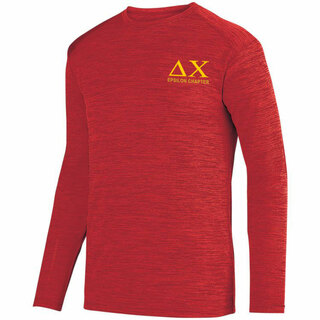 Delta Chi- $26.95 World Famous Dry Fit Tonal Long Sleeve Tee