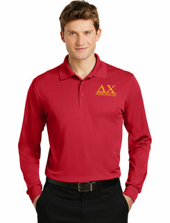 Delta Chi- $30 World Famous Long Sleeve Dry Fit Polo