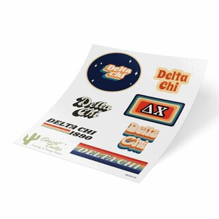 Delta Chi 70's Sticker Sheet