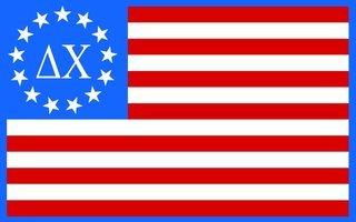 Delta Chi American Flag Sticker