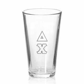 Delta Chi Big Letter Mixing Glass
