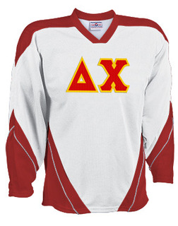 DISCOUNT-Delta Chi Breakaway Lettered Hockey Jersey