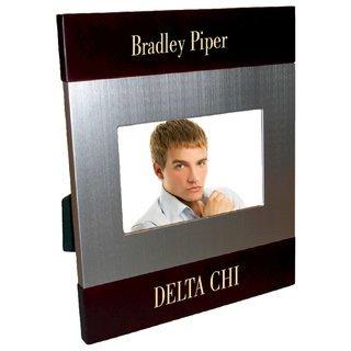 Delta Chi Brush Silver Frame
