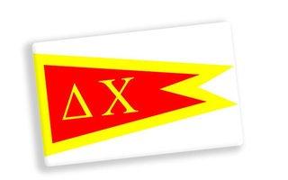 Delta Chi Ceramic Flag Magnet