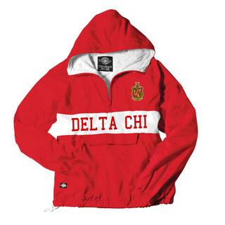Delta Chi Charles River Custom Stripe Greek Pullover Anorak
