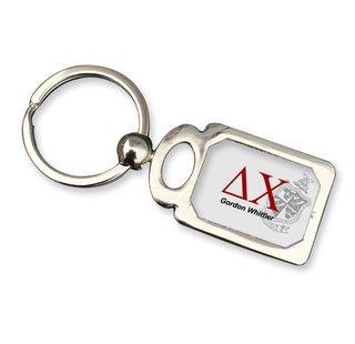 Delta Chi Chrome Crest Key Chain