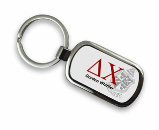 Delta Chi Chrome Crest - Shield Key Chain