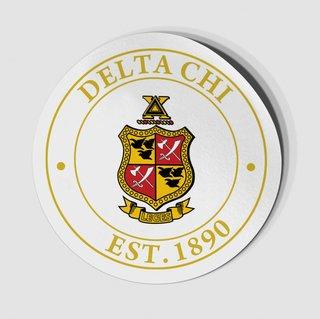 Delta Chi Circle Crest - Shield Decal