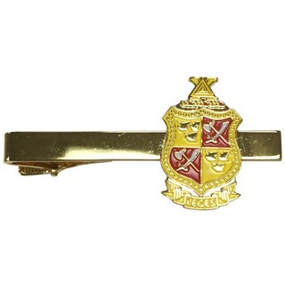 Delta Chi Color Crest - Shield Tie Clips