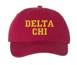 Delta Chi Comfort Colors Pigment Dyed Baseball Cap