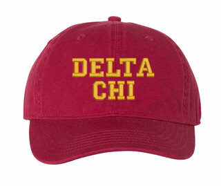 Delta Chi Pigment Dyed Baseball Cap