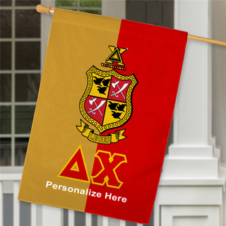 Delta Chi Crest House Flag