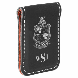 Delta Chi Crest Leatherette Money Clip