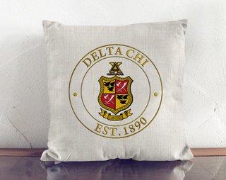 Delta Chi Crest Linen Pillow