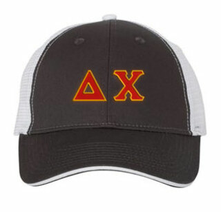 Delta Chi Double Greek Trucker Cap