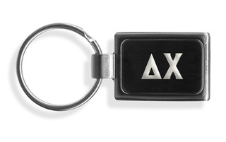 Delta Chi Engraved Chrome Keychains
