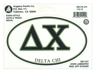 Delta Chi Euro Decal Oval Sticker