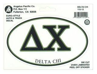 Delta Chi Euro Decal Oval Sticker