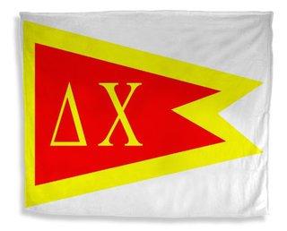 Delta Chi Flag Giant Velveteen Blanket