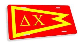 Delta Chi Flag License Cover