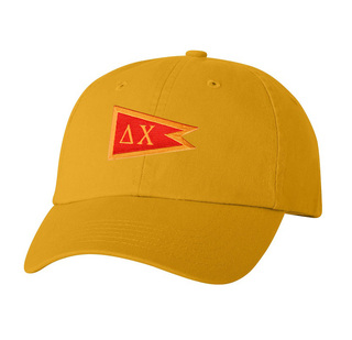 CLOSEOUT - Delta Chi Flag Patch Baseball Hat