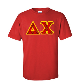 Delta Chi Fraternity Crest - Shield Twill Letter Tee