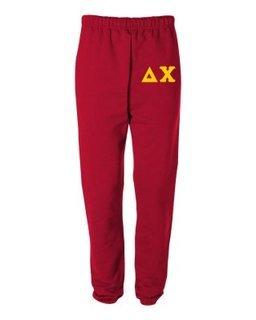 Delta Chi Greek Lettered Thigh Sweatpants