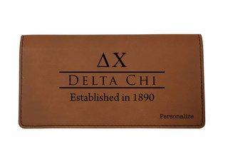 Delta Chi Leatherette Checkbook Cover