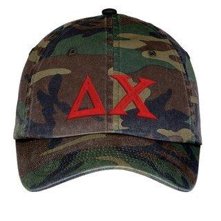 Delta Chi Lettered Camouflage Hat