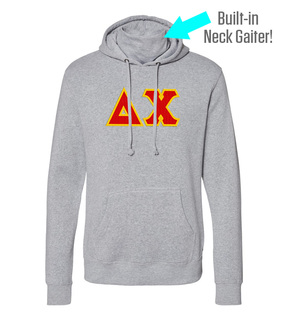 Delta Chi Lettered Gaiter Fleece Hooded Sweatshirt