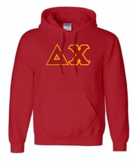 Delta Chi Lettered Greek Hoodie- MADE FAST!