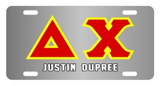 Delta Chi Lettered License Cover
