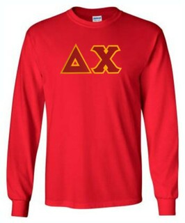 Delta Chi Lettered Long Sleeve Shirt
