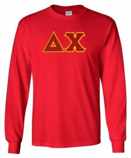 Delta Chi Lettered Long Sleeve Tee- MADE FAST!