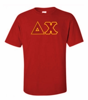Delta Chi Lettered T-shirt - MADE FAST!