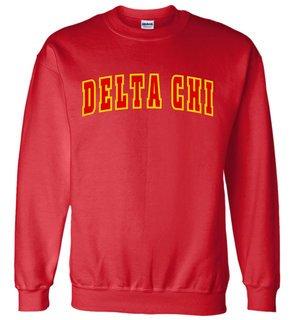 Delta Chi Letterman Twill Crew