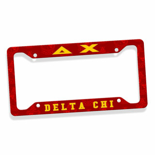 Delta Chi Custom License Plate Frame