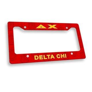Delta Chi License Plate Frame