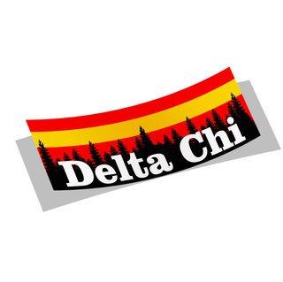 Delta Chi Mountain Decal Sticker
