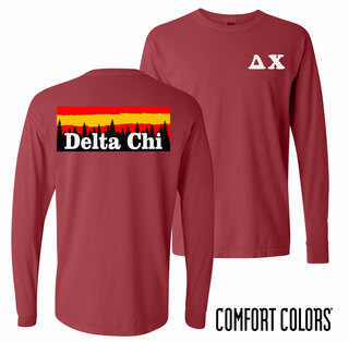 Delta Chi Outdoor Long Sleeve T-shirt - Comfort Colors