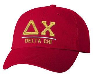 Delta Chi Old School Greek Letter Hat